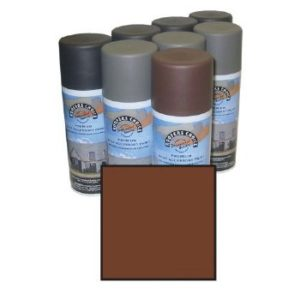 Glossy Brown Roofers Paint