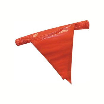 Red Pennant Flag Warning Line